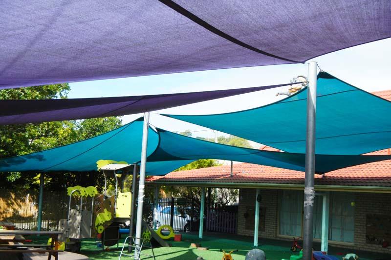 gold coast shade sails child care centre play area