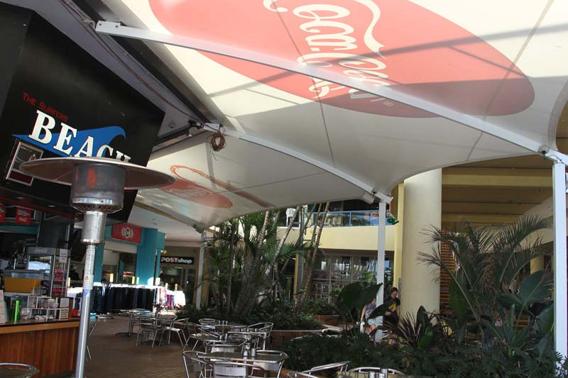 cafe and restaurant al fresco spaces with shade sails