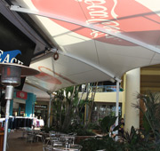 extend outdoor dining areas with shade sails