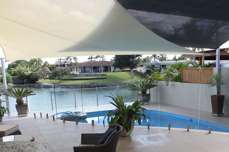 extend outdoor swimming pool areas with shade sails