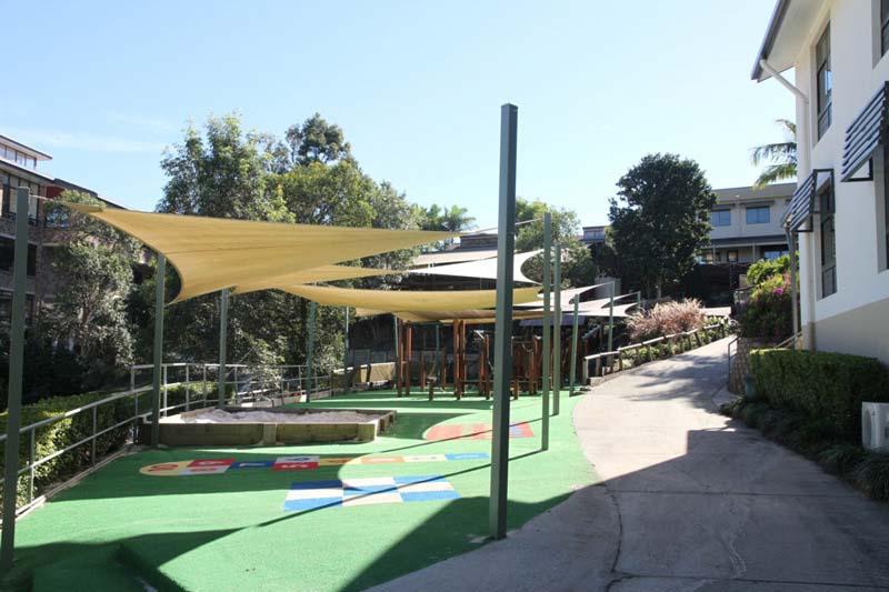 school yard playground shade sail
